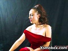 big tits brunette fetish mature smoking