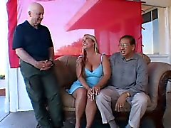 big boobs blonde gangbang old young threesome