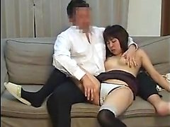 Busty Oriental babe gets her wet cunt tongued and fucked on