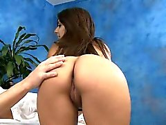 blowjob brunette handjob massage