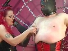 couple domination latex spanking