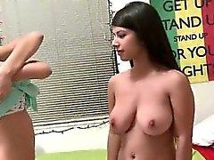 amateur big boobs brunette college lesbian