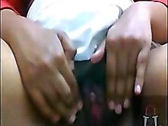 fait à la maison le sud - indian état humide chatte frotter - clito butin
