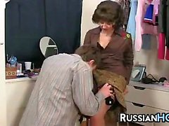 hardcore lick mature old young russian